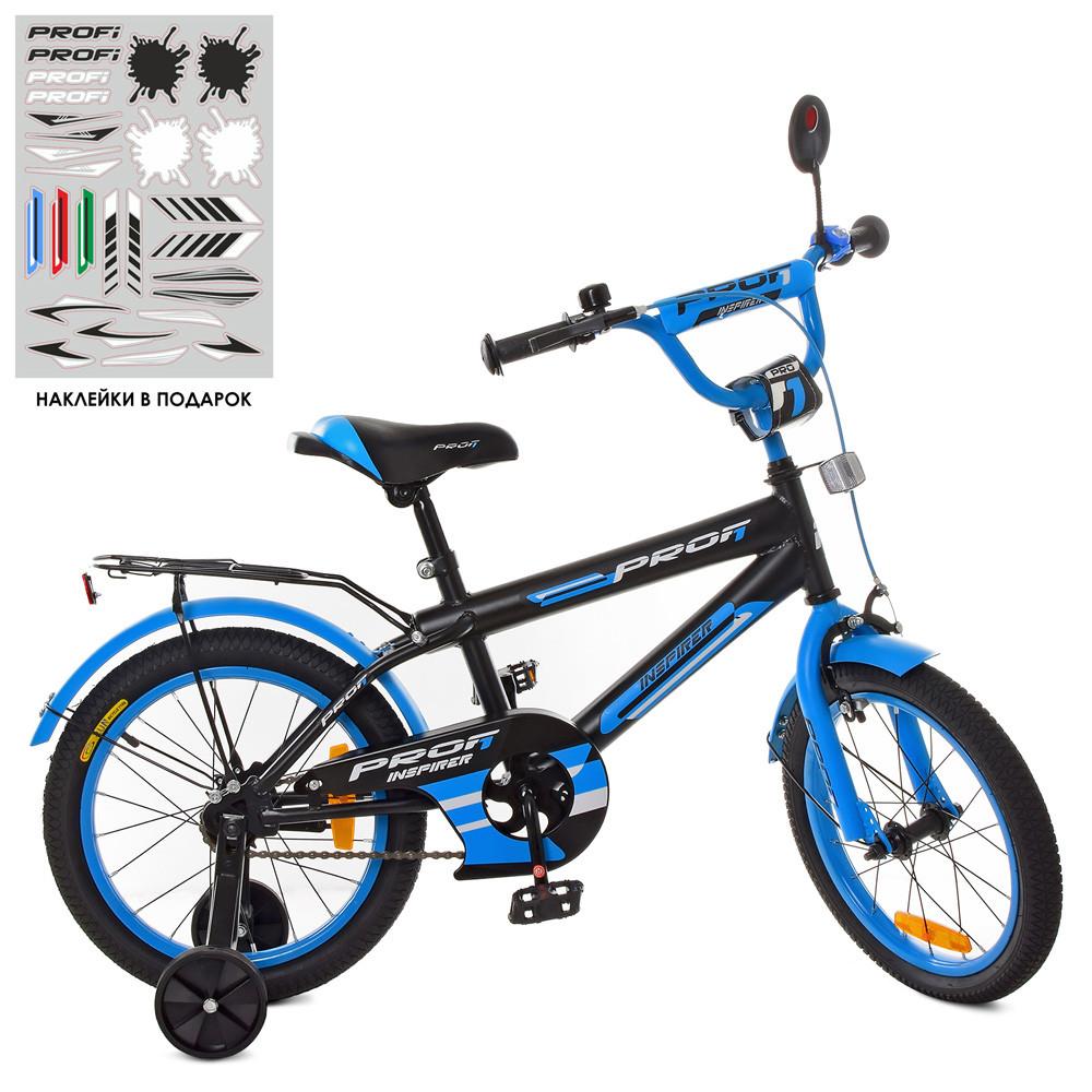 Велосипед детский PROF1 18д. SY1853 Inspirer,черно-синий