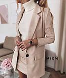 Замшевый женский костюм пиджак с юбкой 42-44, 44-46, фото 3