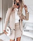 Замшевый женский костюм пиджак с юбкой 42-44, 44-46, фото 6