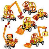 Магнитный развивающий конструктор для детей Play smart Цветные магниты Транспорт 45 деталей арт.2428, фото 3