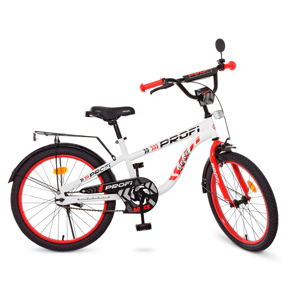 Велосипед детский PROF1 20д. T20154 Space,бело-красный