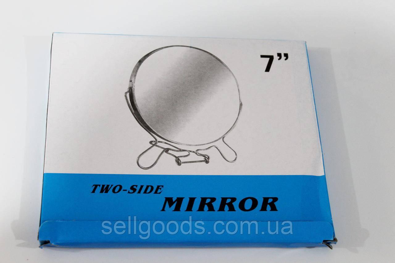 """Зеркало 7"""" двухстороннее косметическое на подставке"""