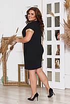 Сукня БАТАЛ пайетка в кольорах 983046, фото 2