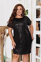 Сукня БАТАЛ пайетка в кольорах 983046, фото 3