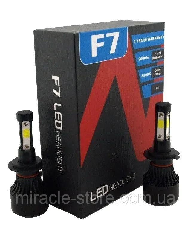 Світлодіодні автомобільні лампи для фар F7 H11 комплект автомобільних світлодіодних ламп