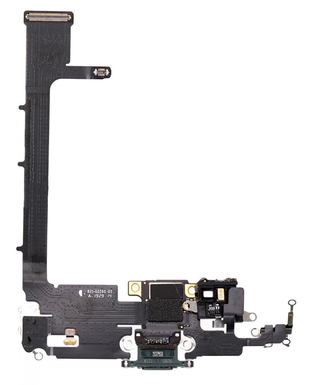 Нижній шлейф iPhone 11 Pro Max з роз'ємом зарядки і мікрофоном Green
