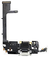Нижній шлейф iPhone 11 Pro з роз'ємом зарядки і мікрофоном White