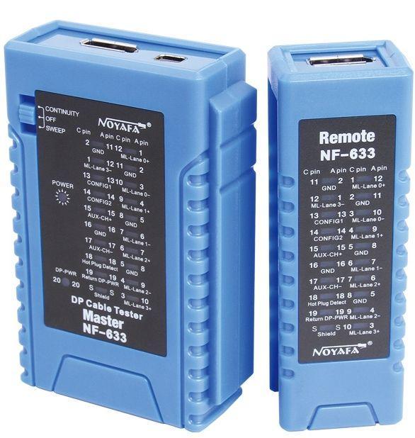 Тестер кабелю PowerPlant DisplayPort Blue (NF-633)