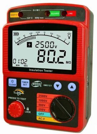 Мегаомметр Benetech GM3123 Red