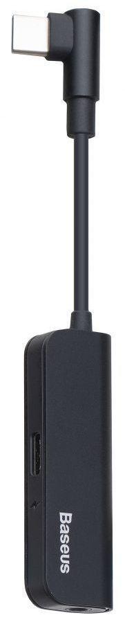 Адаптер-переходник Baseus USB Type-C - Sound AUX 3.5мм + USB Type-C Port Black (CALT53-01)