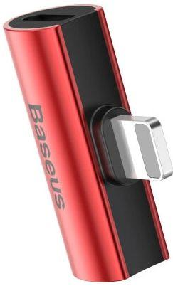 Адаптер-перехідник Baseus L46 Lightning Sound&Charge Adapter Red (CAL46-91)