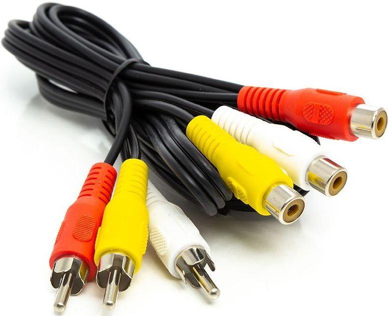 Видеоудлиннитель PowerPlant 3*RCA M-F (CA912049)
