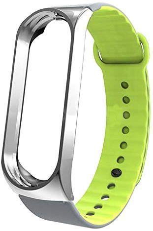 Змінний ремінець для фітнес трекера Xiaomi Mi Sport Silicone Band 3 Grey/Green
