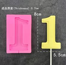 Молд силиконовый цифра 1 - размер молда 9,5*6см