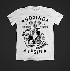 Футболка мужская с принтом Boxing