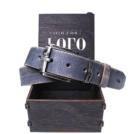 Мужской кожаный ремень Wiseo POLO синий Реплика (UF55604), фото 2