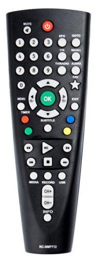 Пульт для телевизионного тюнера BBK RC-SMP712