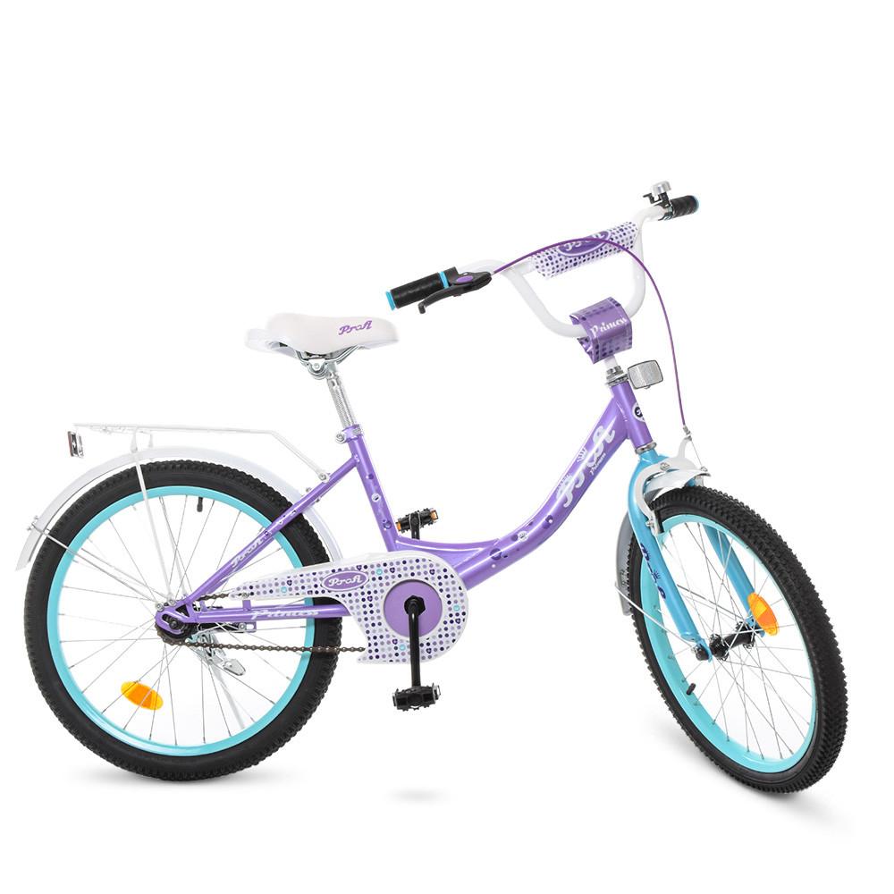 Велосипед дитячий PROF1 20д. Y2015 (1шт) Princess,сирен-мятн,дзвінок,підніжка