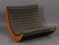 """Кресло качалка """"Elit Double"""" классик, велюр коричневый"""