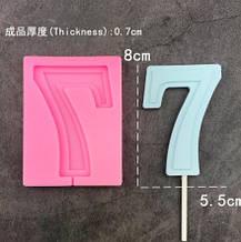 Молд силиконовый цифра 7 - размер молда 9,5*7см