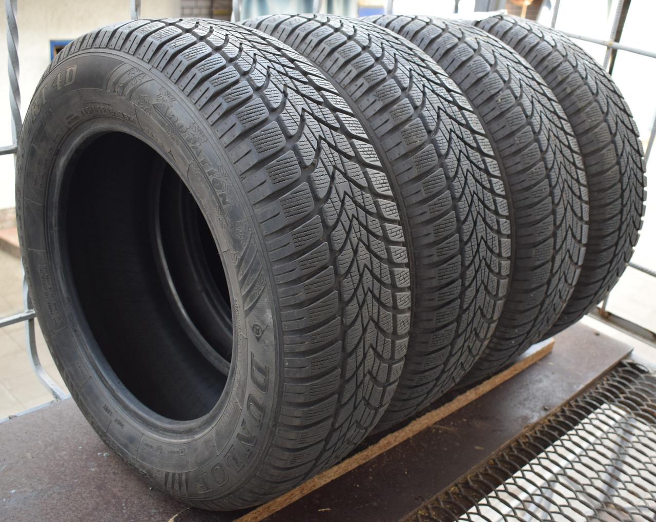 Шины б/у 215/65 R16 Dunlop SP Winter Sport 4D,  6-7 мм, комплект