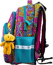 Рюкзак шкільний ортопедичний для дівчинки 1-4 клас з Котиком в орнаменті Winner One R3-220, фото 3