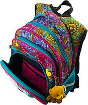 Рюкзак шкільний ортопедичний для дівчинки 1-4 клас з Котиком в орнаменті Winner One R3-220, фото 2