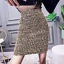 Женская юбка - карандаш с пайетками выше колена (р. 42-46) 83jus438, фото 7