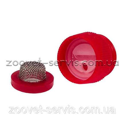 Фильтрпластиковыйсетчатый к ниппельной поилке для свиней с регулятором давления, фото 2