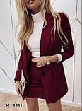 Замшевый женский костюм пиджак с юбкой 42-44, 44-46, фото 8