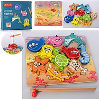 Деревянная игрушка Магнитная Рыбалка MD 2509, игрушки для малышей,детская рыбалка,игра рыбалка,рыбалки