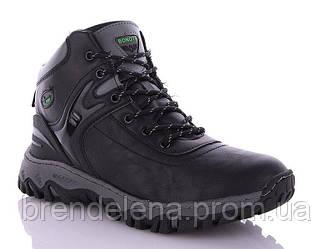 Зимние мужские ботинки р41-46 (код 6370-00) черный