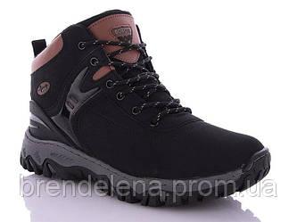 Зимние мужские ботинки р41-46 (код 8609-00) черный
