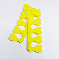 Разделители для пальцев ног желтый