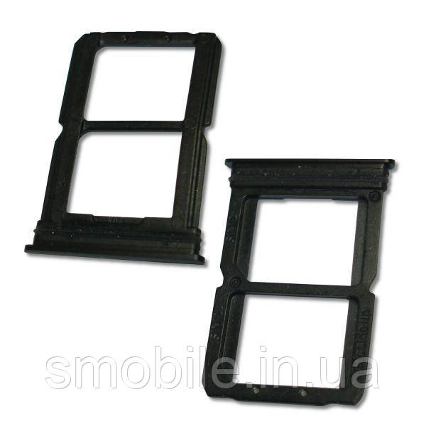OnePlus Лоток под SIM и микро CD карты OnePlus 6 черный глянец (оригинал Китай)