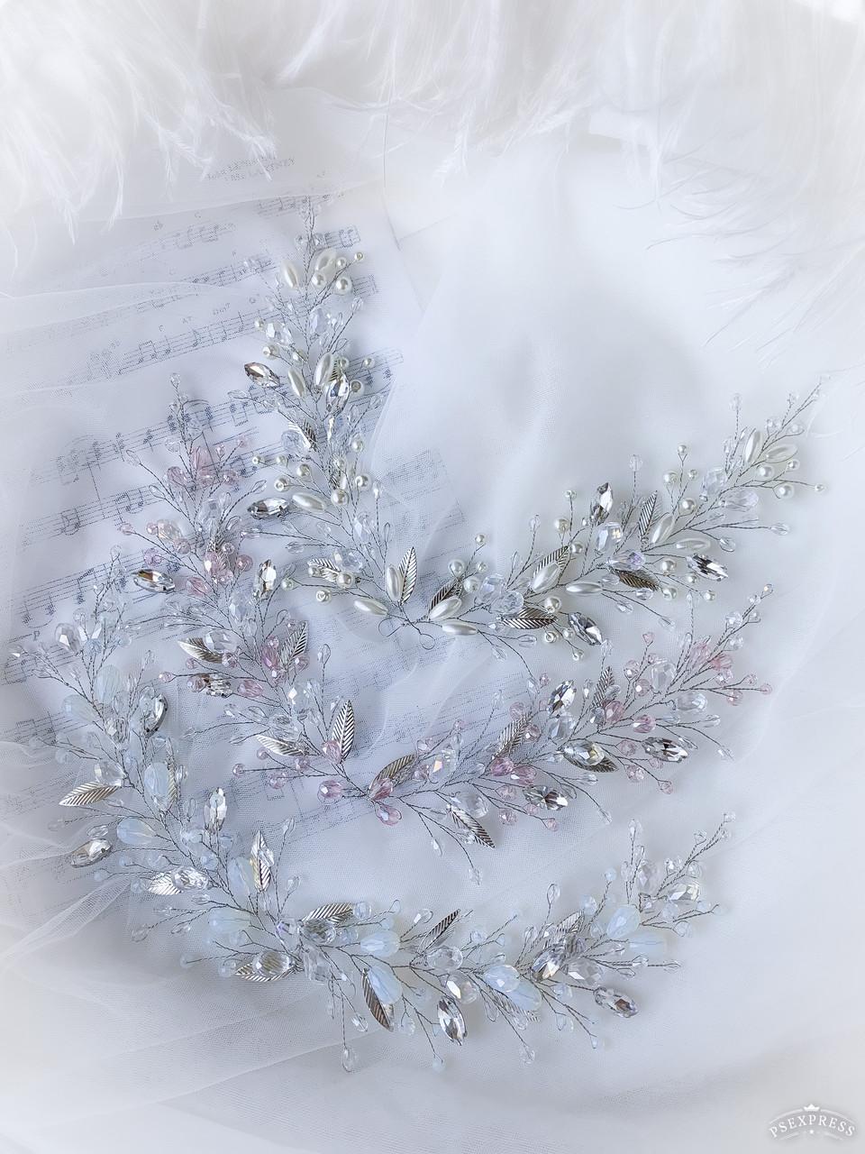 Веточка в прическу с кристаллами