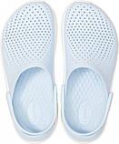 Кроксы подростковые Crocs LiteRide™ Clog голубые 38 р., фото 2