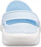 Кроксы подростковые Crocs LiteRide™ Clog голубые 38 р., фото 4