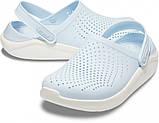 Кроксы подростковые Crocs LiteRide™ Clog голубые 38 р., фото 5