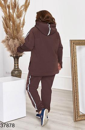 Теплый спортивный костюм на флисе в большом размере Minova Украина Размеры: 48-50. 52-54, 56-58, 60-62, 64-66, фото 2