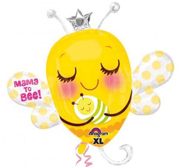 "A 33"" Mama To Bee Jumbo Balloon. Фольгированный шар Мама Пчелка, В УП"