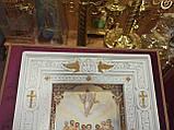 Кіот різьблений білий 36.5х32см під ікони, фото 5