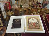 Кіот різьблений білий 36.5х32см під ікони, фото 3