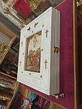 Кіот різьблений білий 36.5х32см під ікони, фото 2