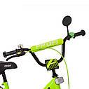 Велосипед детский PROF1 18д. XD1842 Original boy,салатово-черный, фото 2