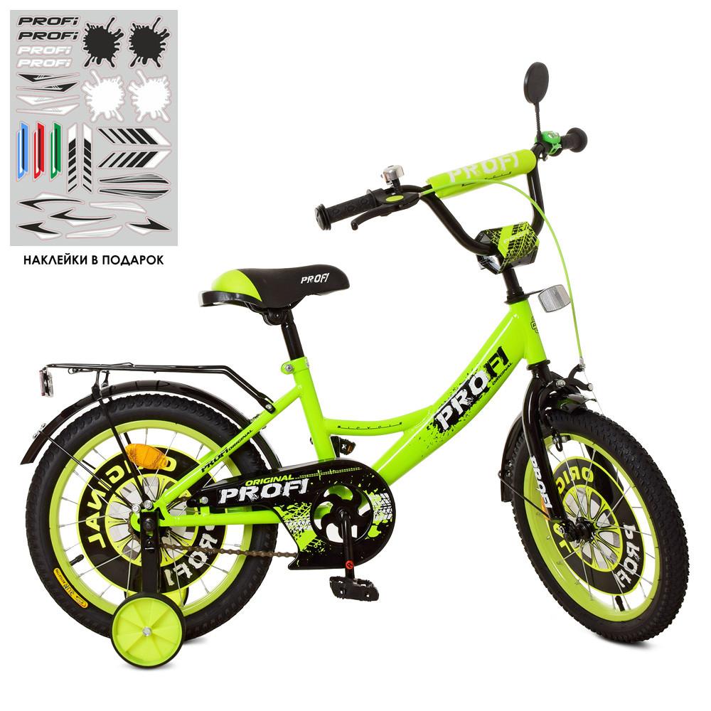 Велосипед детский PROF1 18д. XD1842 Original boy,салатово-черный