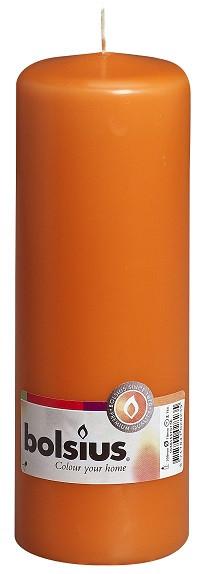 Свеча цилиндр Bolsius оранжевая 20 см (70/200-020Б MAN)