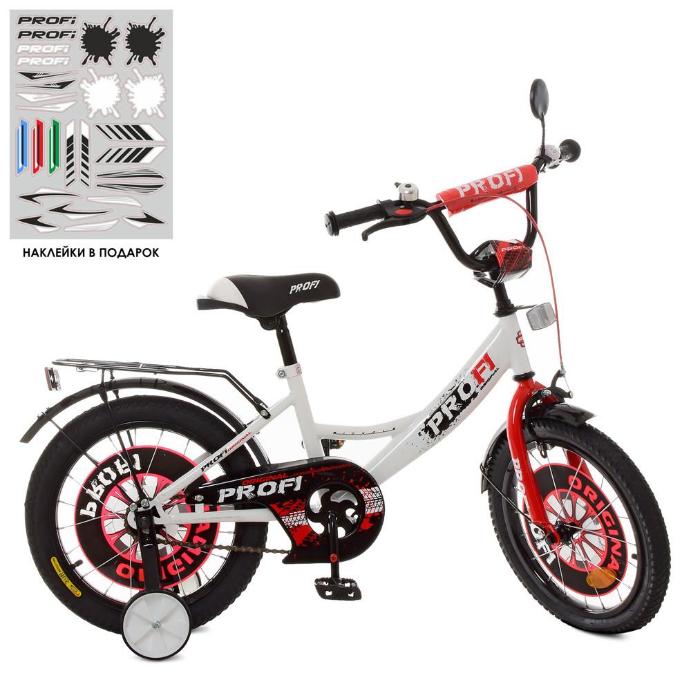 Велосипед детский PROF1 18д. XD1845 Original boy,бело-красный