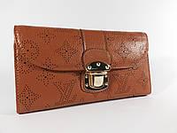 Кошелек женский Louis Vuitton 58123 коричневый, натуральная кожа, расцветки