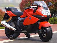 Детский электромотоцикл BMW (красный цвет)